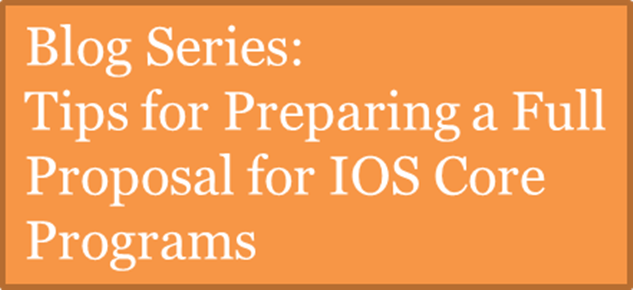 Tips for Preparing a Full Proposal for IOS Core Programs