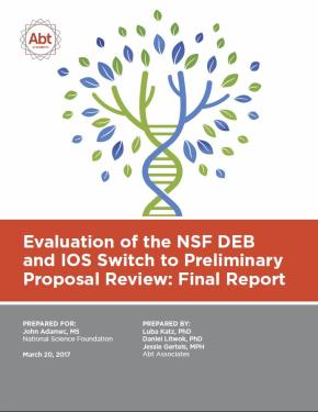 External Report from Abt on Preliminary Proposals